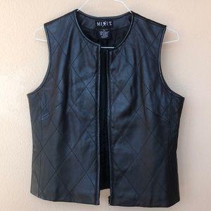 Genuine leather vest